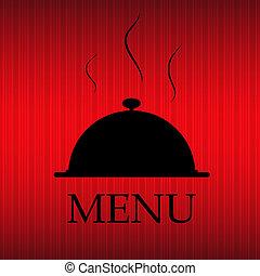 Restaurant menu template in grunge retro style vector illustration