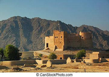 Fujairah Fort - Overlooking Fujairah City, here in the UAE,...