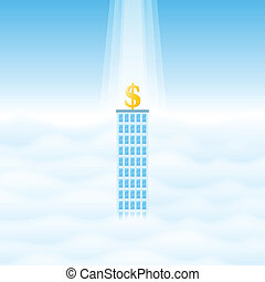 Blessed Business - Vector illustration of a lone business...