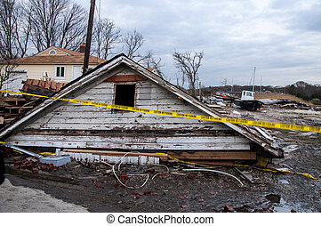 Storm Damage 1 - Damages caused by hurricane Sandy on Long...