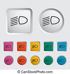 Headlight icon. Vector illustration EPS.