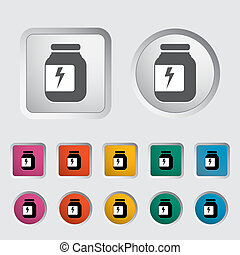 Jar icon Vector illustration EPS