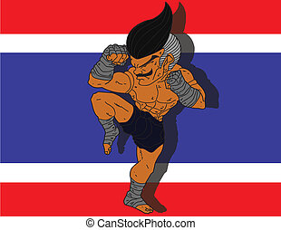 Muay Thai BG 7 flag of Thailand