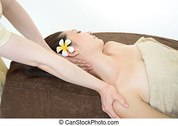 Woman getting a spa treatment