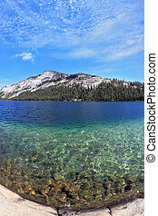 Blue lake. Photo taken fisheye lens - The majestic American...