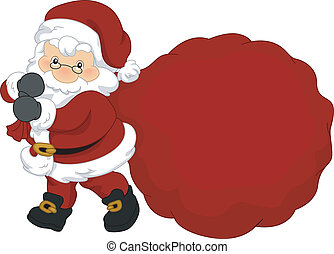 Santa's Christmas Goodies - Illustration of Santa Claus...