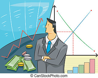 Economist Guy - Illustration of a a Man in Business Attire...