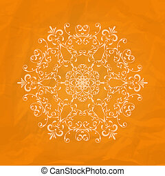 Vector Lacy Napkin on Crumpled Paper