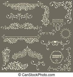 Vector Lacy Vintage Design Elements - vector lacy vintage...