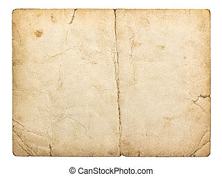 old paperboard card isolated on white background