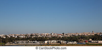 Rabat skyline - Wide angle view of Rabat skyline, Morocco