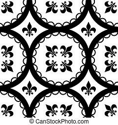 Fleur-De-Lis Tiles - A Ttleable Fleur-De-Lis and circle...