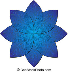 blue flower illustration - picture of blue flower on white...