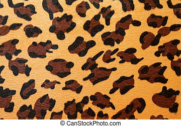 Leopard hide - Wild African animal hide pattern yellow...