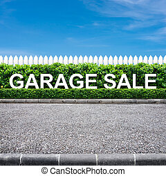 Garage sale sign on the road side