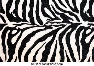 Zebra hide - Wild African animal hide pattern zebra straps...