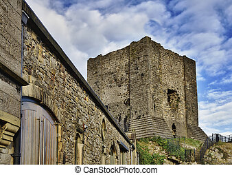 View of Clitheroe Castle, Lancashire. - A view of the keep...