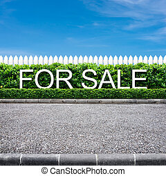 For sale sign on the road side