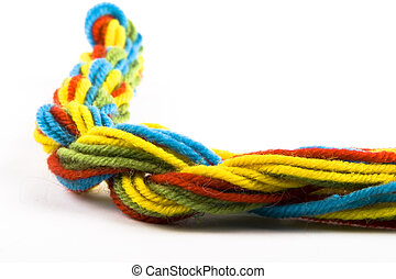 colorful threads - the colorful wool threads on the white