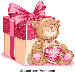 Teddy Bear toy - Cute illustration of Teddy Bear with great...
