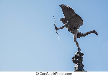 Eros Cupid statue London - Eros Cupid statue of Piccadilly...