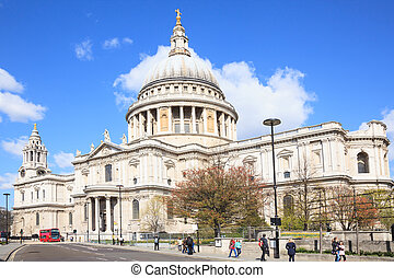 St Paul Cathedral London - St Paul Cathedral with London Bus...