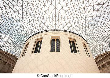 British Museum Architecture - LONDON - April 16: British...