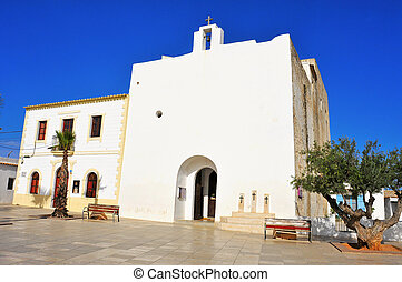 View of Sant Francesc Xavier Church in Sant Francesc de...