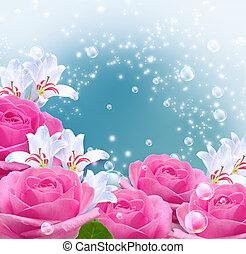 rosas, lírios, Bolhas