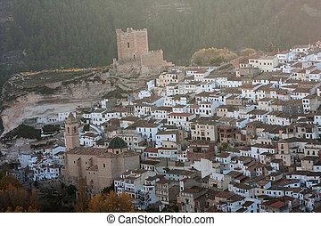 Alcala - A view of Alcala del Jucar, in Albacete (Spain), at...
