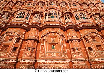 Hawa Mahal - Architecture of the famous Hawa Mahal or Palace...