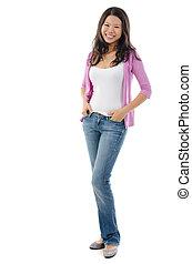 Fullbody Southeast Asian girl - Full body Southeast Asian...