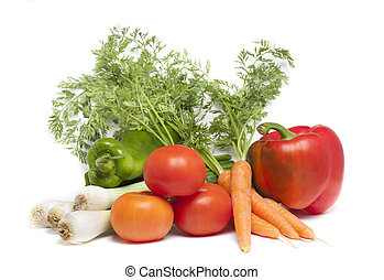 verdure ecology - various vegetables, as ingredients for a...