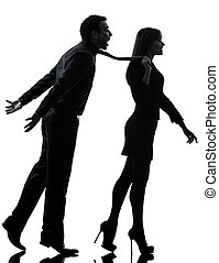 couple woman seductress bonding concept silhouette - one...