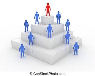 社会, 階層, 概念, 3D, イラスト
