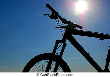 Mountainbike - classic mountainbike which is often used in...