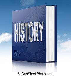 History text book. - Illustration depicting a text book with...