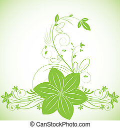 Abstract beautiful flowers creative design green