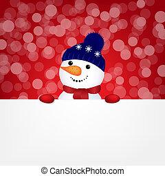 Snowman With Bokeh