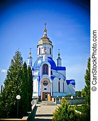 Church of St Valentine, Sumy, Ukraine, lomo effect - The...