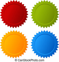 Vector blank seals set isolated on white