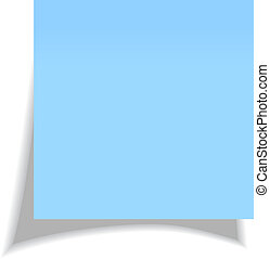 Vector blue sticker isolated on white