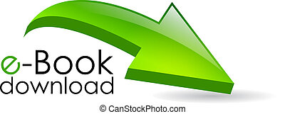 Ebook download arrow sign - Ebook download arrow, vector...