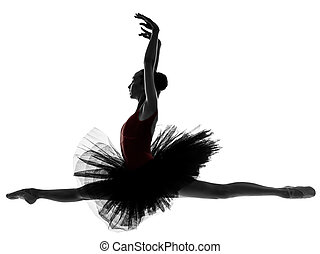 young woman ballerina ballet dancer dancing - one caucasian...