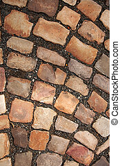 Cobble Stone road - Cobble stone road pattern from Prague