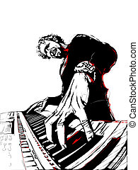 pianist - illustration of pianist