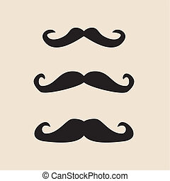 Vector set of gentleman mustaches - Vector set of curly...