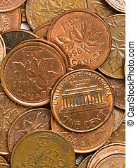 USA and Canadian pennies - Canadian penny soon a thing of...