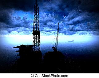 óleo, Guarneça, plataforma