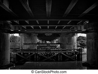 under the newport bridge - under the newport vertical lift...